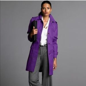 Banana republic purple trench